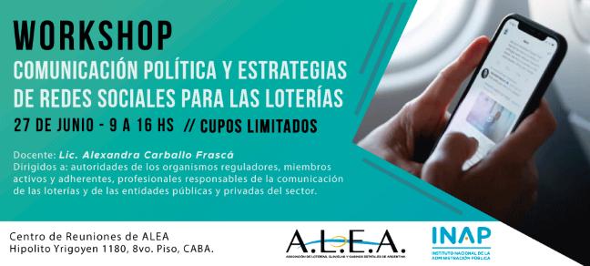 """Workshop: """"Comunicación política y estrategias de redes sociales para las loterías"""""""