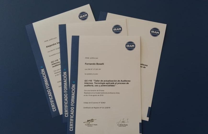 Certificados para Auditores Internos