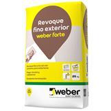 Revoque Weber Rev Forte 25kg A La Cal Para Exteriores