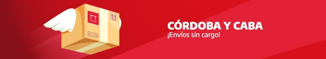 Córdoba y CABA ¡Envíos sin cargo!