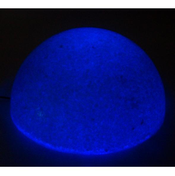 Domo de Sal y Cuarzo con Luz Led Azul